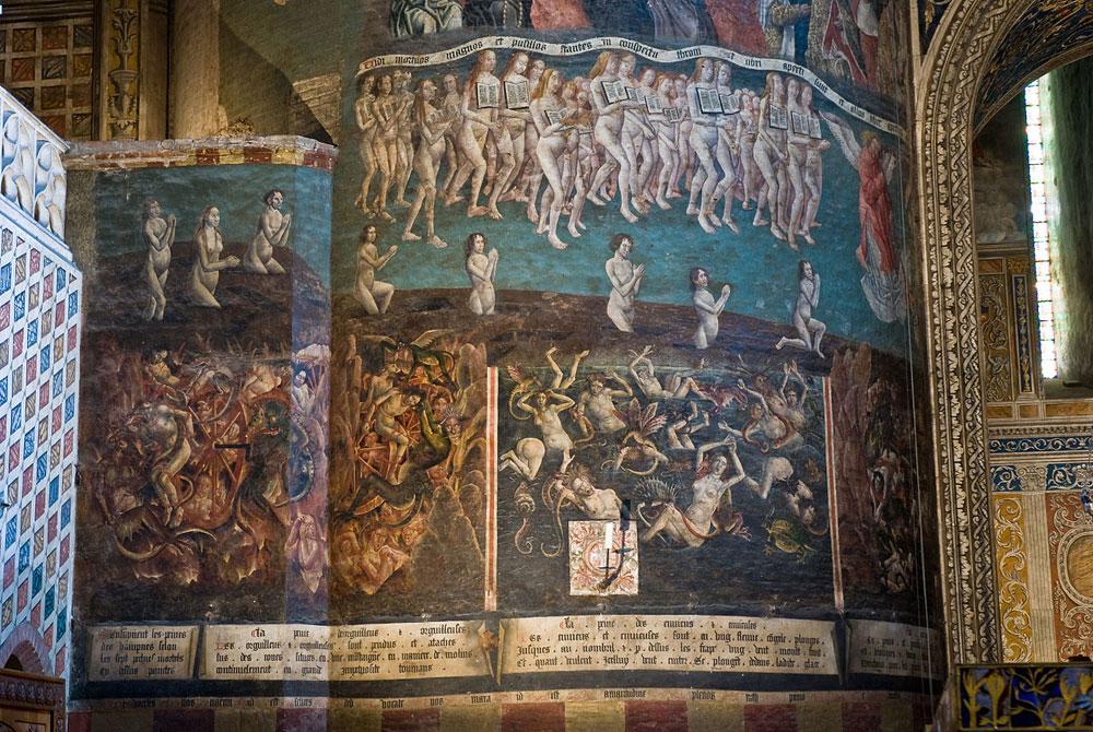 fresque murale pilier gauche cathédrale sainte cécile